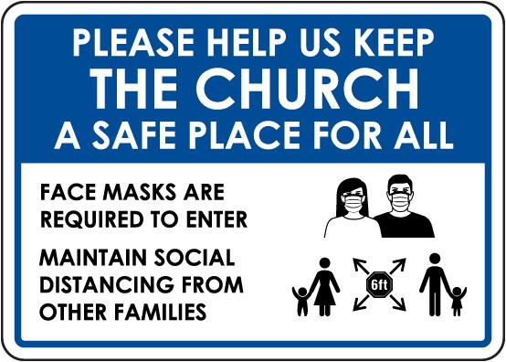 Help Us Keep The Church A Safe Place Sign