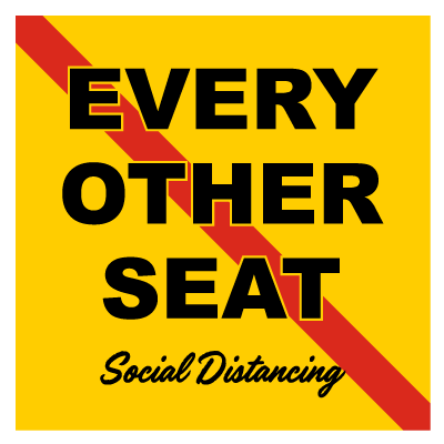 Every Other Seat Social Distancing Label