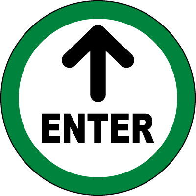 Enter Floor Sign