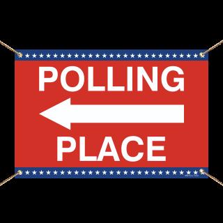 Polling Place Left Arrow Banner