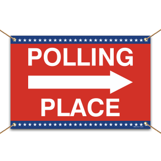 Polling Place Right Arrow Banner