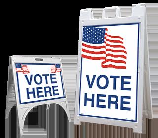 Vote Here Sandwich Board Sign