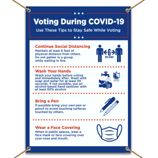 Covid-19 Voting Safety Tips Banner