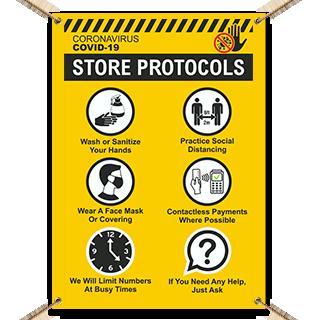 COVID-19 Store Protocols Banner