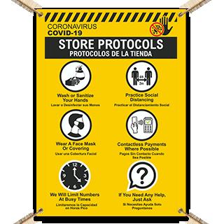 Bilingual COVID-19 Store Protocols Banner
