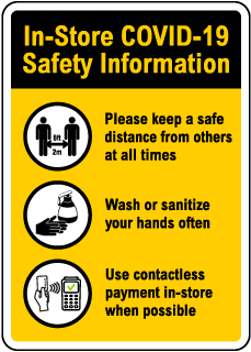 In-Store COVID-19 Safety Information Sign