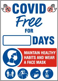 COVID-19 Free Maintain Healthy Habits Scoreboard