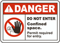 Do Not Enter Permit Required Label