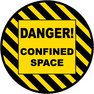 Danger Confined Space Floor Sign