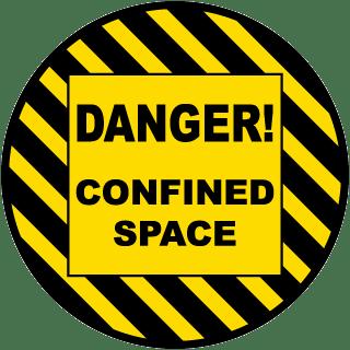 Danger Confined Space Floor Sign