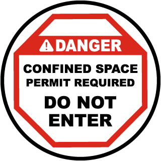 Permit Required Do Not Enter Floor Sign