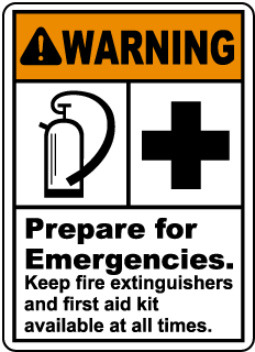 Prepare For Emergencies Sign