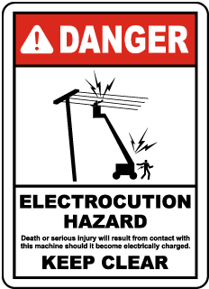 Electrocution Hazard Keep Clear Sign