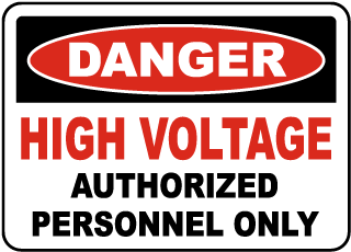 High Voltage Stickers – ANSI / OSHA High Voltage Labels