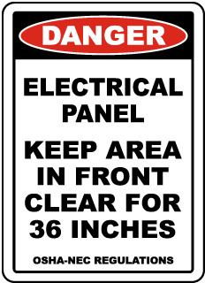 Danger Keep Area Clear For 36 Inches Floor Label
