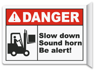 2-Way Slow Down Sound Horn Sign