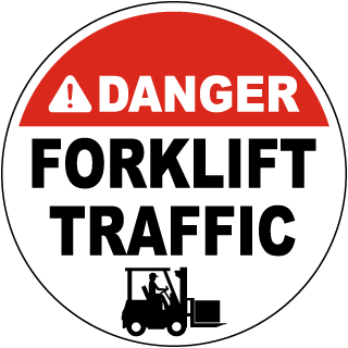 Danger Forklift Traffic Floor Sign