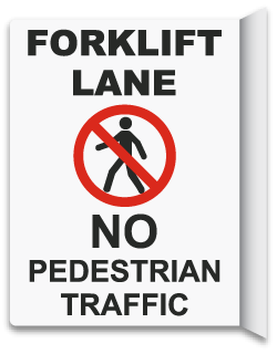 2-Way No Pedestrian Traffic Sign