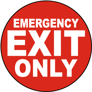 Emergency Exit Only Floor Sign