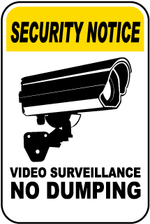 Video Surveillance No Dumping Sign