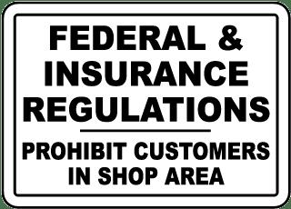 Federal & Insurance Regulations Sign