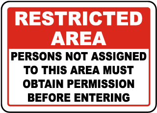 USA Made Restricted Area Signs for Sale.