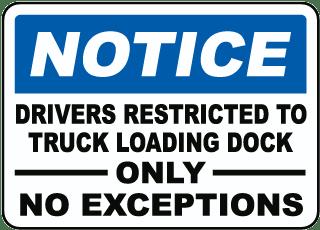 Lplpol Dock 10 Activity Sign Loading Zone Loading Dock Number Outdoor Metal Sign 12 x 18