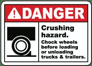 Truck Wheel Chock Signs Wheel Chock Signs Chock Wheel Signs