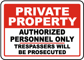 Private Property Signs for Sale | USA Made – SafetySign com