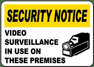 Video Surveillance In Use Sticker
