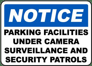 Parking Facilities Surveillance Sign