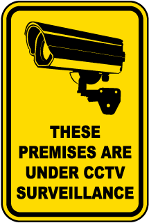 Premises Are Under Surveillance Sign