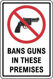 Custom Minnesota Guns Banned Sign