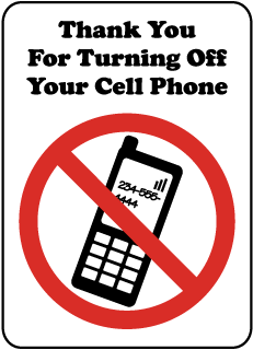 Turning Off Cell Phone Sign