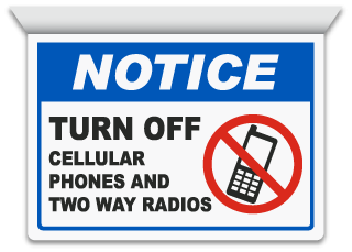 2-Way Turn Off Cell Phones Sign