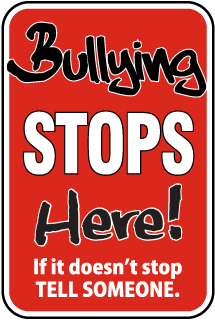 Bullying Stops Here Sign