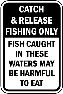 Fish May Be Harmful To Eat Sign
