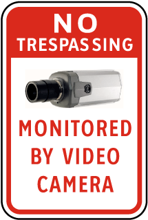 Monitored By Video Camera Sticker