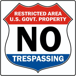no trespassing signs over 75 different options