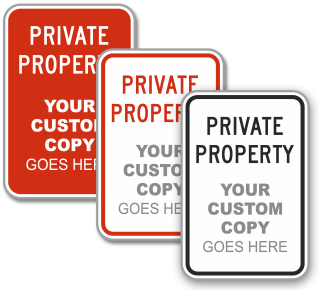 Custom Private Property Sign with Text and Image