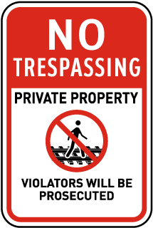No Trespassing Railroad Sign