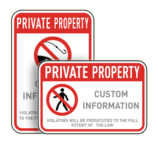 Custom Private Property Signs with Image