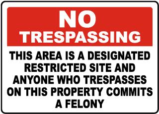 Florida Domestic Violence Center No Trespassing Sign