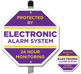 Protected by Electronic Alarm System Yard Sign