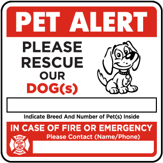 Please Rescue Our Dog with Contact Information Sticker