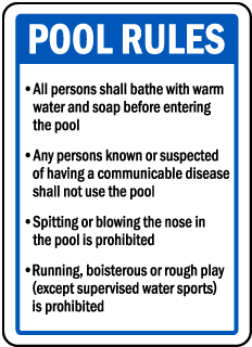 Connecticut Pool Rules Sign