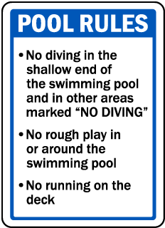 Iowa Pool Rules Sign