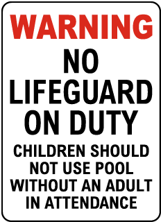 Johnson County Kansas No Lifeguard Sign