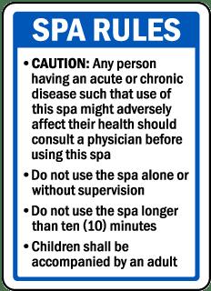 Missouri Spa Rules Sign