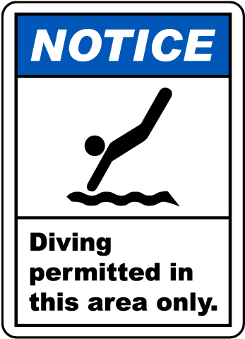 New Jersey Diving Permitted Sign